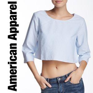 American Apparel seersucker stripe crop top
